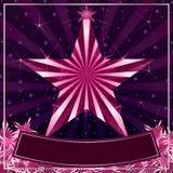 Weibliches Sternkartenrosa Stockbild