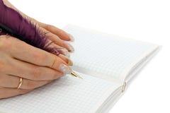 Weibliches Tagebuch Lizenzfreies Stockfoto