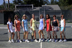 Weibliches Tennisteam Stockbild