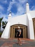 Weibliches touristisches Erforschungseagle-Quadrat Stockfotografie