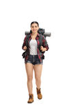 Weibliches Wanderergehen Lizenzfreie Stockfotografie