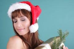 Weibliches Weihnachten Stockfoto