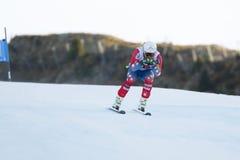 WEIBRECHT Andrew in Audi FIS Alpien Ski World Cup - SU van 3de MENSEN Royalty-vrije Stock Foto's