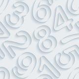 Weißbuch nummeriert nahtlosen Hintergrund Lizenzfreie Stockfotos