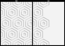 Weißbuchmuster, abstrakte Hintergrundschablone für Website, Fahne, Visitenkarte, Einladung, Postkarte Lizenzfreies Stockfoto