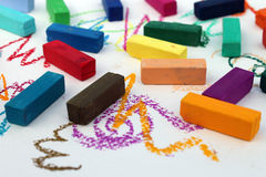 Weich Pastell für Künstler lizenzfreies stockfoto