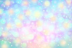Weich Rosa, Purpurrotes und Blaues buntes bokeh hellen Lichts backgroun Stockbild