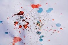 Weiche Beschaffenheit des blauen Rotes, wächserner bunter Winterhintergrund Stockbild