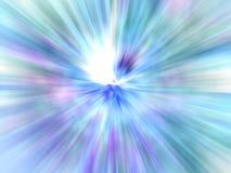 Weiche blaue Explosion