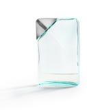 Weiche blaue Parfümflasche lokalisiert Lizenzfreies Stockbild