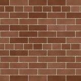Weiche Brown-Backsteinmauer Stockfotografie
