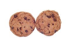 Weiche dunkle Schokoladenschokoladenkuchenplätzchen lizenzfreies stockfoto