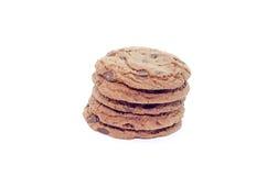 Weiche dunkle Schokoladenschokoladenkuchenplätzchen lizenzfreie stockbilder