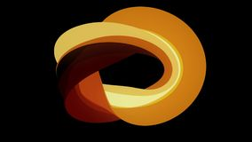 Weiche Farben flaches 3D kurvten Schleifenzusammenfassungsformanimationshintergrundes der Feuerdonutsüßigkeit neue Qualitätsunive lizenzfreie abbildung