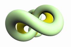 Weiche grüne Form stock abbildung