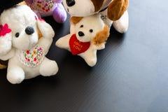Weiche Plüschspielwaren Kleine Hunde Lizenzfreies Stockbild