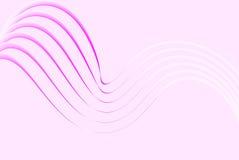 Weiche rosafarbene Zeilen Stockbild