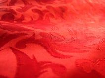 Weiche rote Gewebenahaufnahme Stockfotos