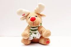 Weiche Spielzeug Rotwild froher Weihnachten Lizenzfreie Stockfotografie