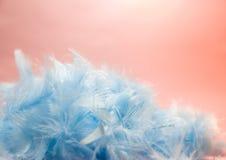 Weiche und Unschärfe reden blaues Pastellcolore Türkis des selektiven Fokus an Lizenzfreies Stockfoto
