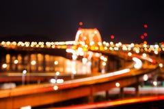 Weiche unscharfes bokeh von banghwa Brücke Lizenzfreies Stockfoto