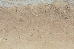 Weiche Welle des Meeres auf dem Strand Stockfoto