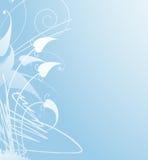 Weicher blauer Blumenhintergrund Stockfotografie