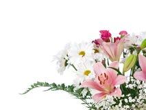 Weicher Farbenblumenblumenstrauß Lizenzfreies Stockbild