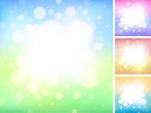 Weicher glühender Kreis-Hintergrund Stockfoto