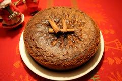 Weicher Lebkuchenkuchen für Weihnachten stockbild