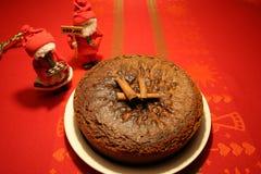 Weicher Lebkuchenkuchen für Weihnachten lizenzfreie stockfotos