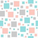 Weicher quadratischer nahtloser Pastellhintergrund Grau, Rosa und Blau Stockfotos