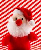 Weicher Toy Santa mit roter Nase Stockbild