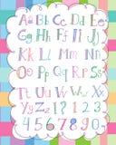 Weiches Alphabet-Set Lizenzfreies Stockbild