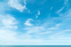 Weiches fluf Fahne APP der azurblauen klaren Wolke Himmel cloudscape Hintergrundes Lizenzfreies Stockbild