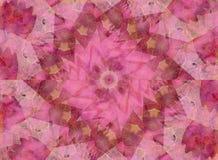 Weiches rosafarbenes Kaleidoskop-Muster Lizenzfreie Stockfotografie