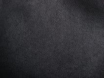 Weiches schwarzes Leder Lizenzfreies Stockbild