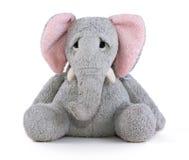 Weiches Spielzeug des traurigen Elefanten Lizenzfreie Stockbilder