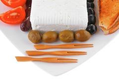 Weichkäse und Tomaten Lizenzfreies Stockfoto