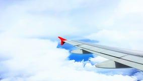 Weichzeichnung die Flugzeugflügel Lizenzfreie Stockfotografie