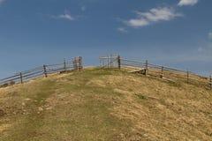 Weide in Carpathion-berg Stock Foto
