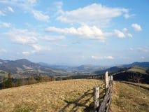 Weide in de bergen in de lente Stock Foto's