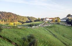 Weiden in landelijk dorp royalty-vrije stock foto