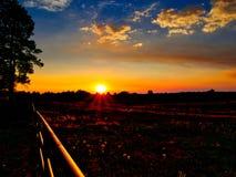 Weiden-Sonnenuntergang bei Echo Basin lizenzfreie stockbilder