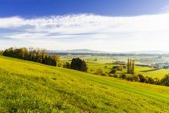 Weiden und Wiesen in der Schweiz Lizenzfreies Stockfoto