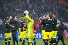 Weidenfeller and Borussia Dortmund to thank their fans for their support Royalty Free Stock Photography