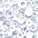 Weiße geometrische Schablone Stockfotos