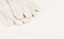 Weiße Handschuhe Stockfotos