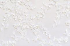 Weiße Hochzeitsspitze Lizenzfreies Stockfoto