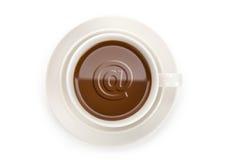 Weiße Kaffeetasse Stockfotos